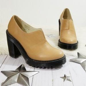 Dr. Martens Cordelia oxford heels booties tan 7